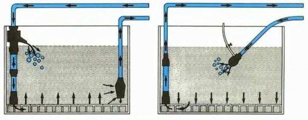 фильтр для аквариума донный