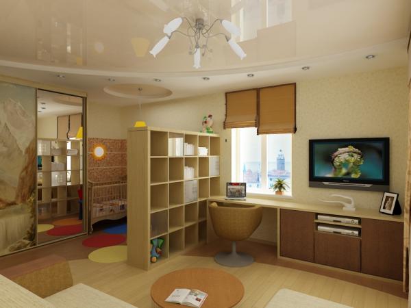 dizajn-kvartiry-s-detskoj-razdelenie-zon