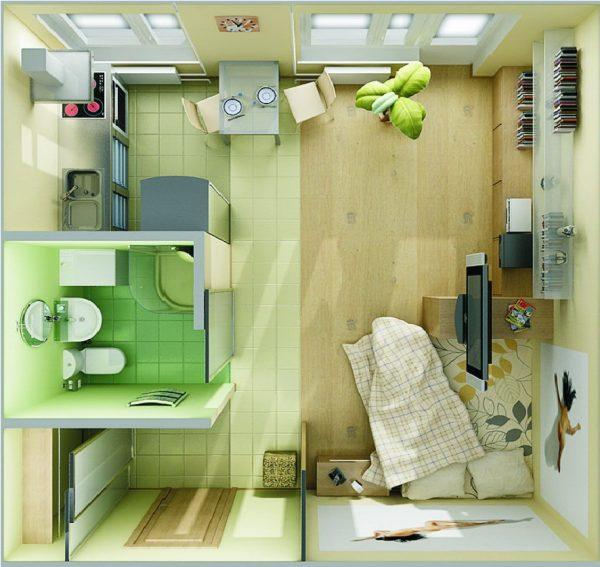 Dizajn-malogabaritnoj-odnokomnatnoj-kvartiry