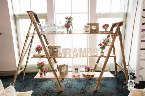 Rustic-Wooden-Ladder-Shelving