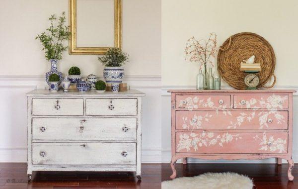 commodes-c-rus-es-style-shabby-peinture-blanche-rose-pastel