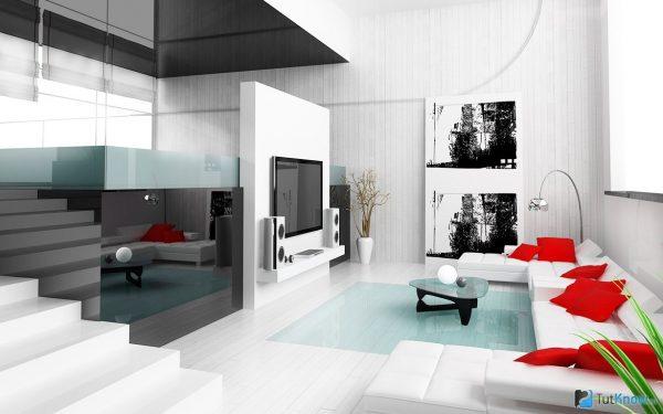 Интерьер в стиле Модерн- отличается причудливым слиянием фантастических растительных узоров с оригинально обработанными материалами