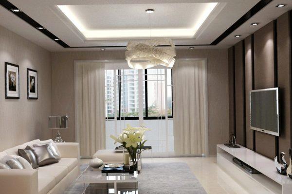Стильные модели люстр для дизайна гостиной