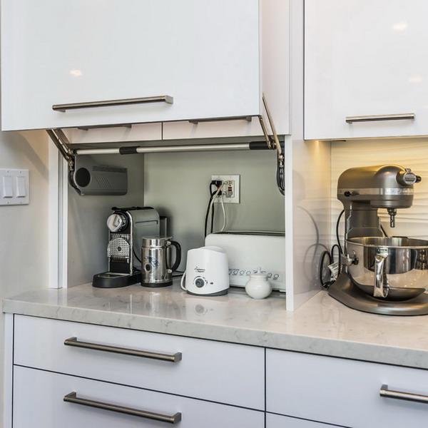 Как хранить мелкую технику на кухне более компактно