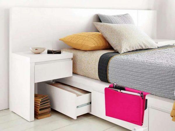 Обустройство системы хранения в спальне