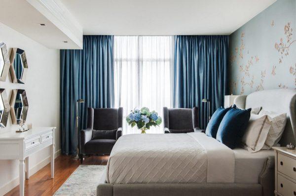Как подобрать красивые шторы для спальни
