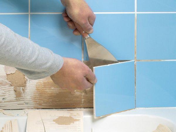 Какие требуются инструменты, чтобы демонтировать  старую плитку?