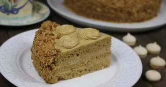 Бисквитный торт «Золотой ключик»