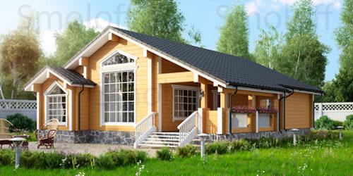 Особенности проектов одноэтажных деревянных домов