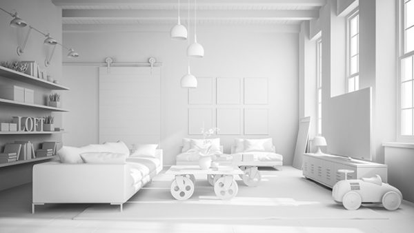 Белый цвет в интерьере